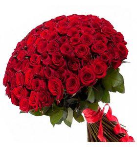 Букет 101 красная роза Гран При 1 метр