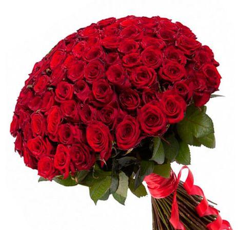 101 красная роза, 90 см. Superflowers.com.ua