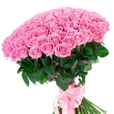 "101 розовая роза, 60 см ""Куколка"""