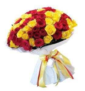 """Букет 101 роза"""" С Днем Рождения"""""""