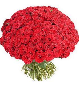 Букет из 101 красной розы 80 см. Superflowers.com.ua