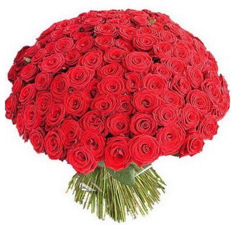 Букет з 101 червоної троянди 70 см. Superflowers.com.ua