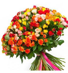 """101 кустовая роза, 60 см """"Совершенство"""""""