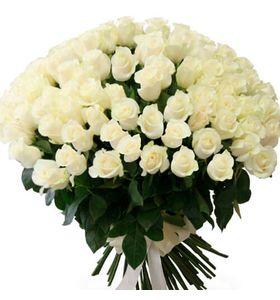 Букет из 101 импортной розы, 90см