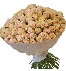 Букет из 101 кремовой розы Талея