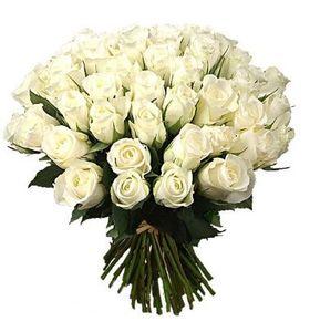 """Букет из 39 белых роз """"Жемчужина"""""""