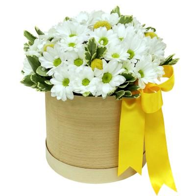 Хет коробка з хризантемами
