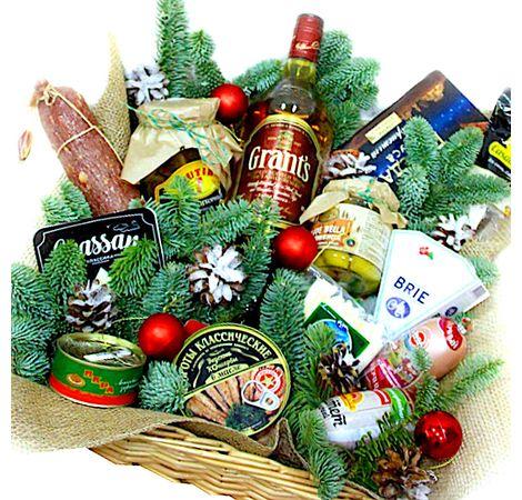 Новогодняя коробка с продуктами