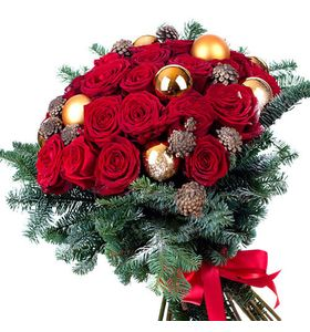 """Букет з троянд """"Яскрава зима"""""""