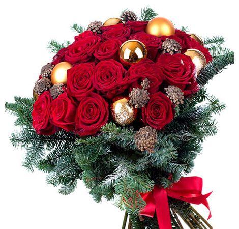 """Букет троянд """"Яскрава зима"""". Superflowers.com.ua"""