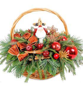 Новогоднее оформление корзин №2