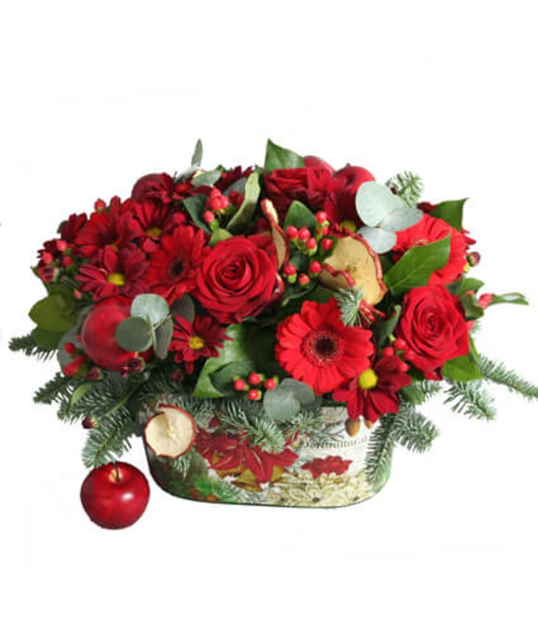 Новогодняя композиция №2. Superflowers.com.ua