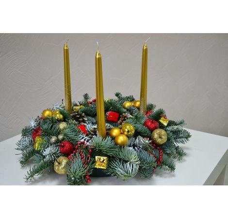Новогодняя композиция №4. Superflowers.com.ua