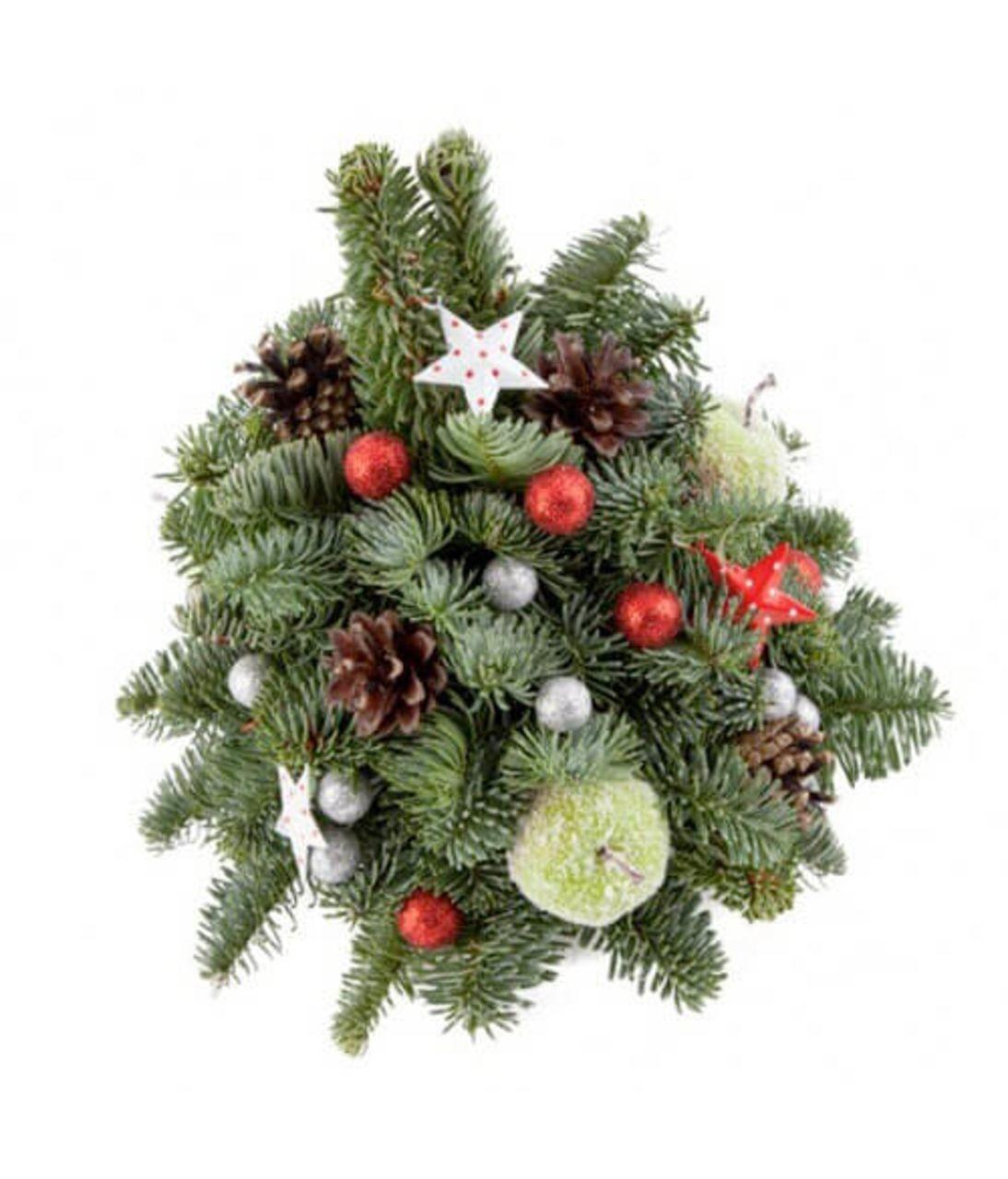 """Новорічна композиція """"Ялинка"""". superflowers.com.ua. Купити різдвяну композицію на новий рік"""
