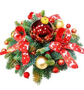 """Новогодняя композиция """"Красный шар"""""""