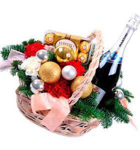 """Новогодняя корзина """"Новый Год идет!"""""""