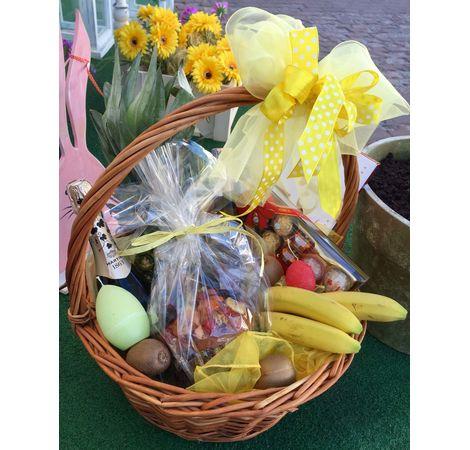 Пасхальная корзина со сладостями. Superflowers.com.ua
