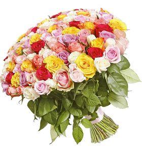 """Букет 201 роза микс """"Анджела"""". superflowers.com.ua. Купить букет из розы микс 201 штука в Киеве"""