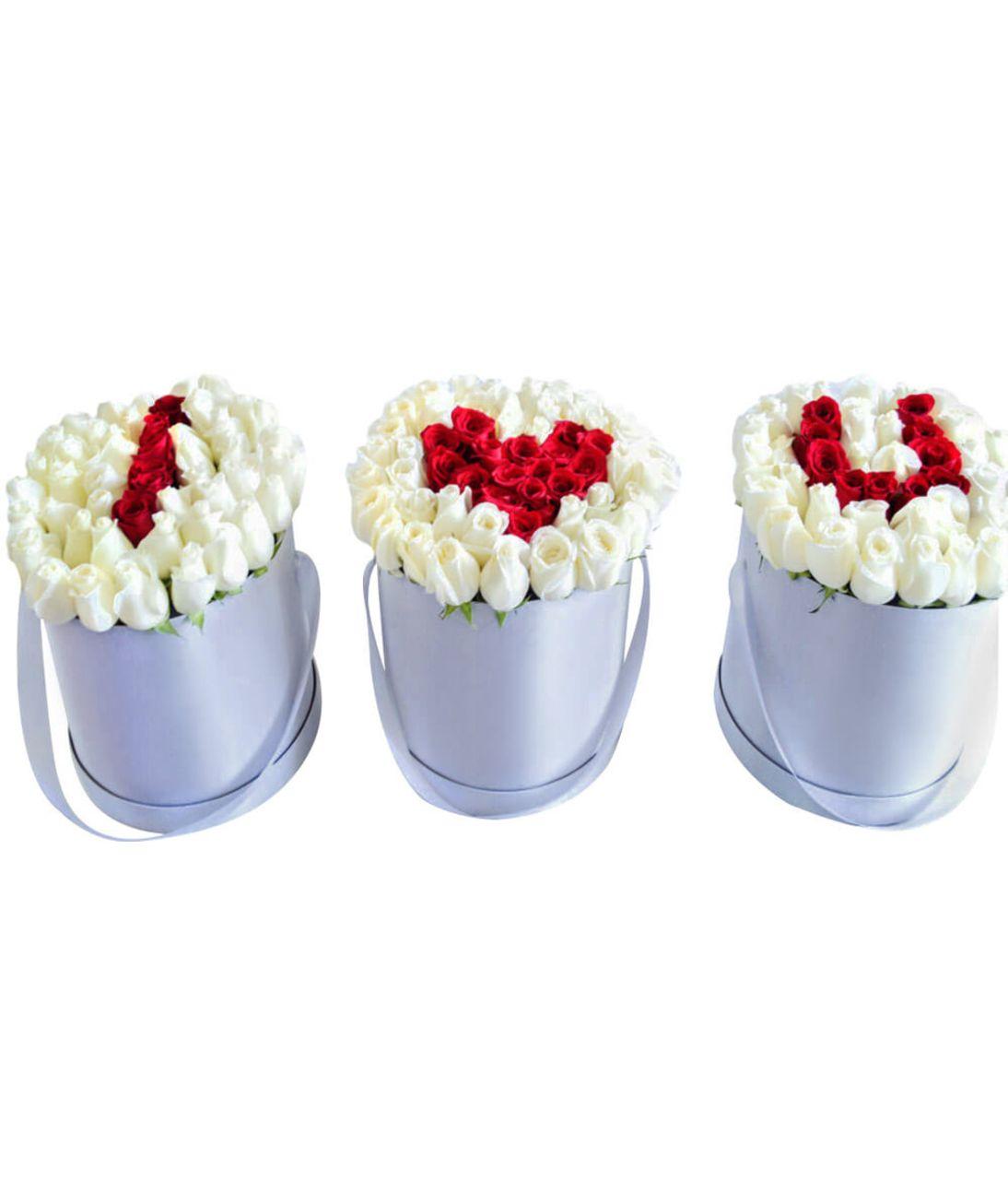 Букет 201 роза в коробке I Love You. superflowers.com.ua. 201 роза цена