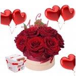 Купить букет девушке на 14 февраля в Киеве. superflowers.com.ua