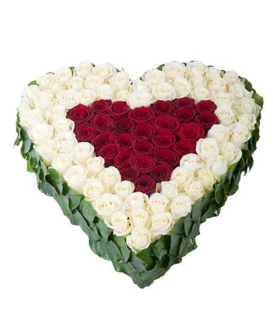 Серце з 101 троянди. Superflowers.com.ua