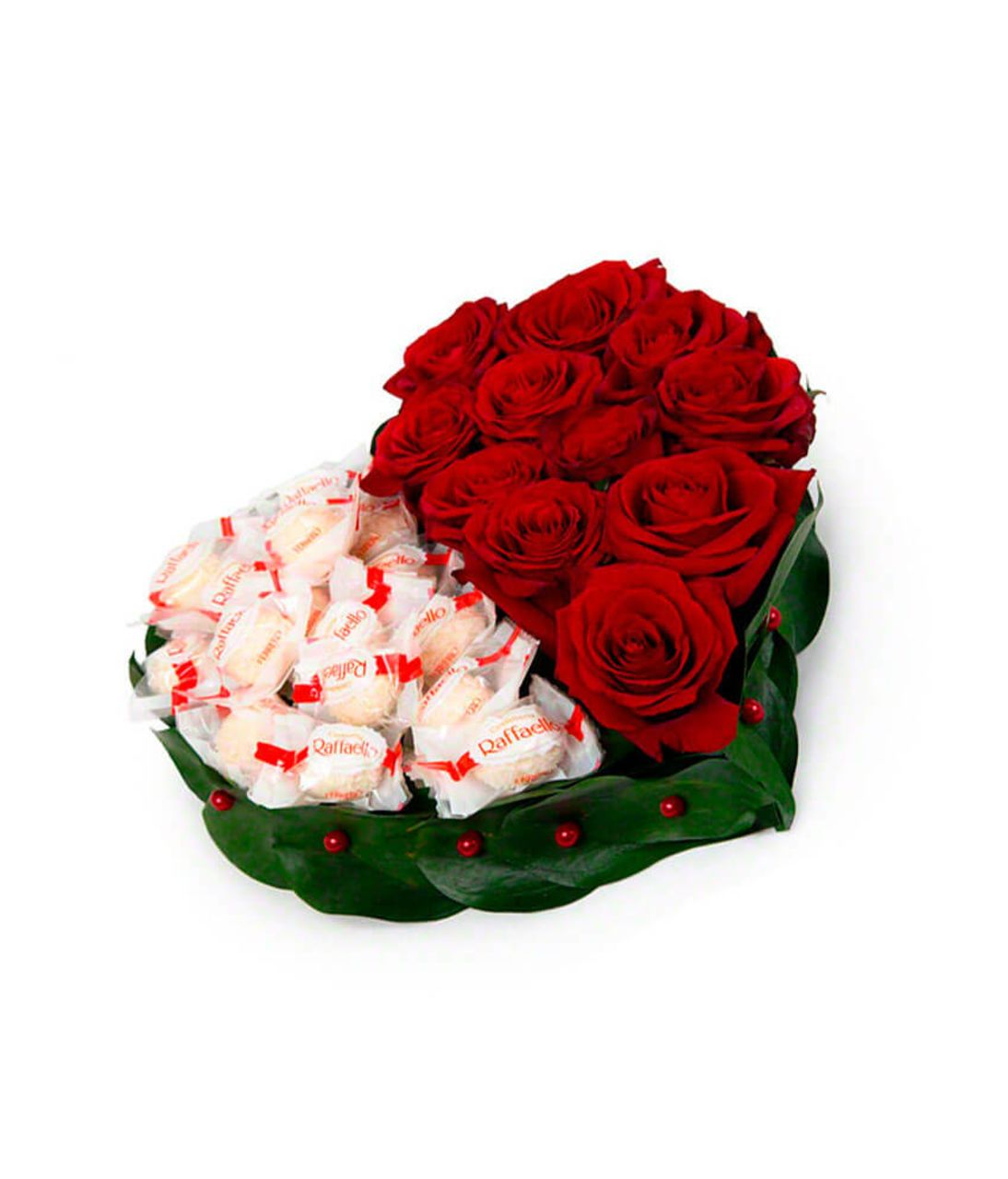 """Сердце из роз """"Сладость"""". Superflowers.com.ua"""
