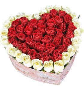 """Сердце из роз """"Любимой"""""""