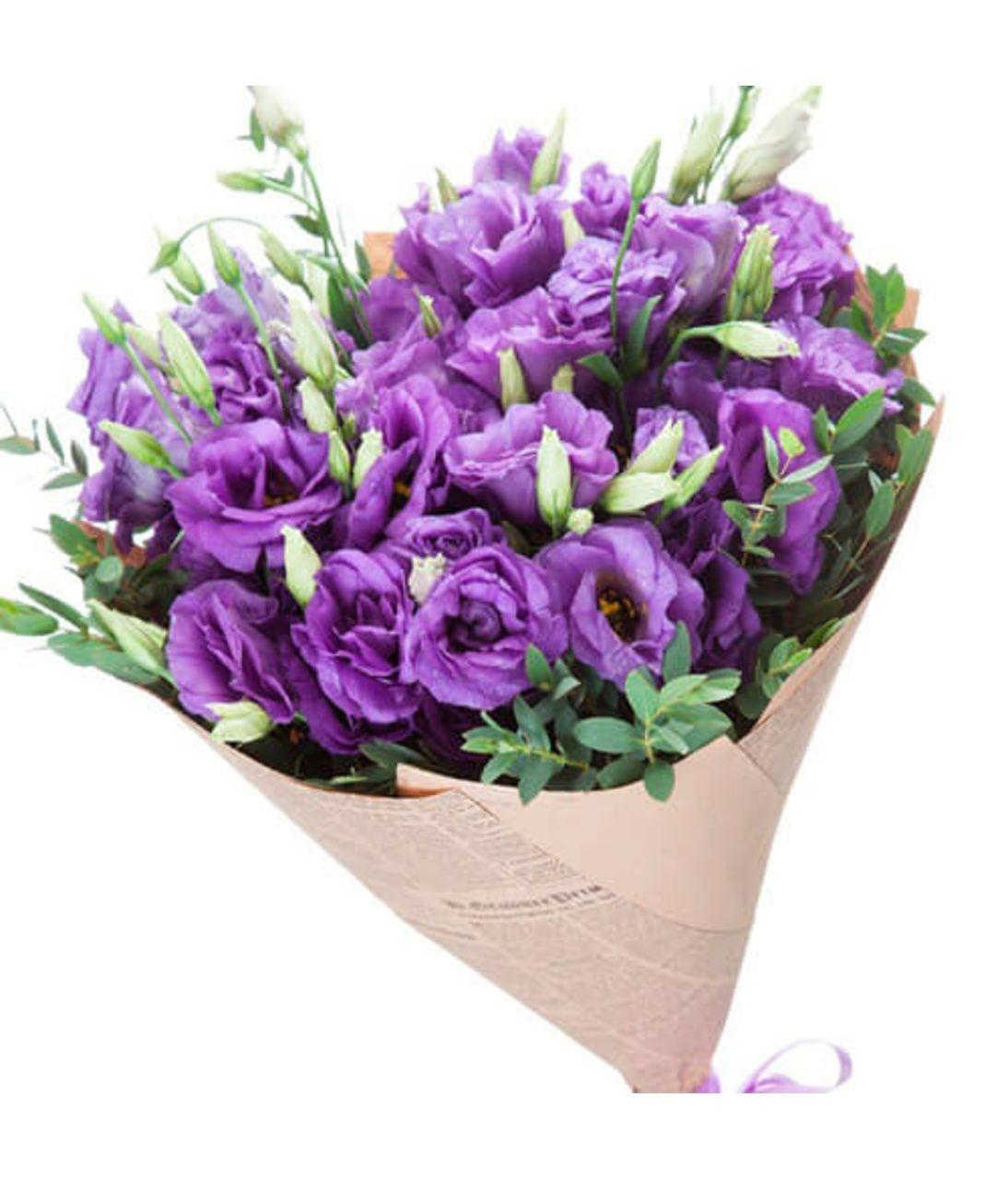 Букет з бузковим еустома. Superflowers.com.ua