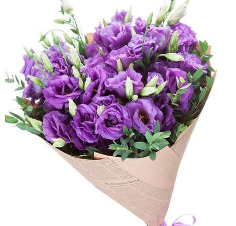 Букет из сиреневой эустомы 15 шт. Superflowers.com.ua