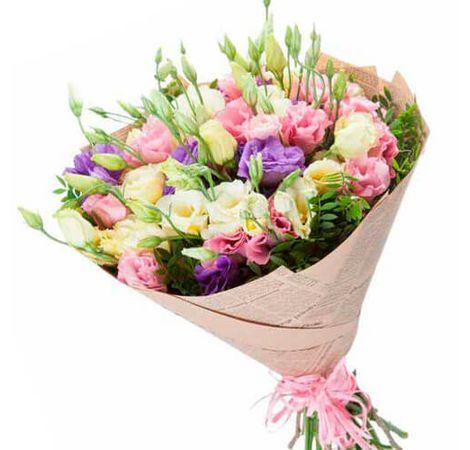 """Букет квітів Євстоми """"Улюблений"""". Superflowers.com.ua."""