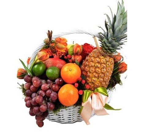 "Кошик з фруктами ""Настрій"". Superflowers.com.ua"