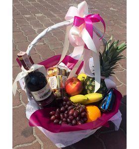 """Подарочная корзина с фруктами """"Праздничный день"""""""