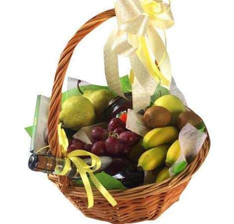 """Подарочная корзина с фруктами """"Very Delicious"""". Superflowers.com.ua. Заказать фруктовую корзину"""
