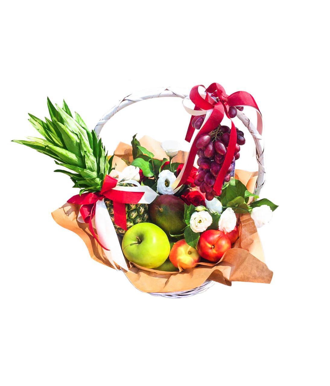 """Подарочная корзина со сладостями """"Fruit"""". Superflowers.com.ua"""