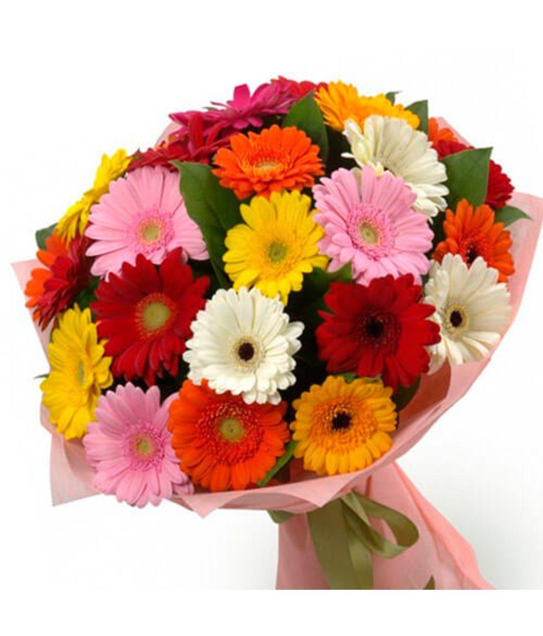 Мікс з 25 гербер. Superflowers.com.ua