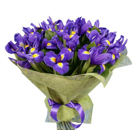 Букет з 25 ірисів. Superflowers.com.ua