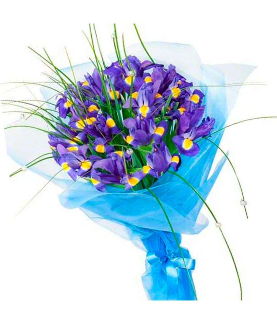 """Букет из ирисов """"Рапсодия"""". Superflowers.com.ua"""