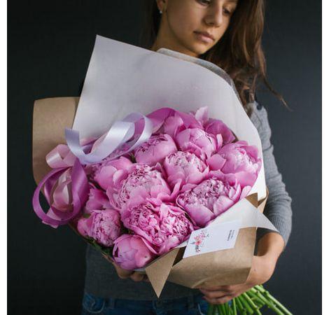 """Букет пионов """"Розовая роскошь"""". Superflowers.com.ua"""