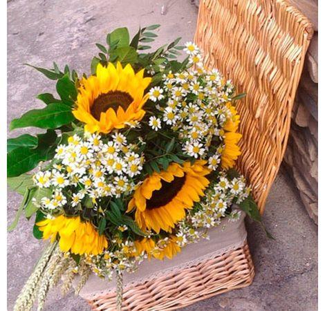 "Букет соняшнику ""Щастя"". Superflowers.com.ua"