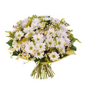 """Букет белых хризантем """"Поле"""""""
