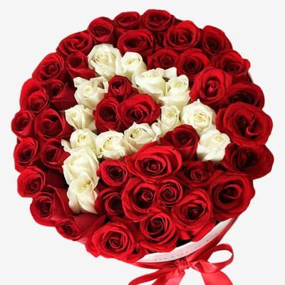 """51 красная роза """"Именная буква"""""""