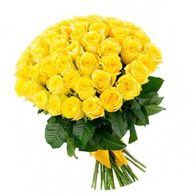 """51 желтая роза 60 см """"Лучик"""""""