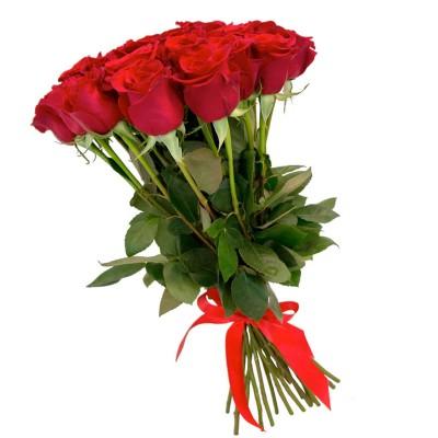 """25 красных длинных роз """"День Влюбленных"""""""