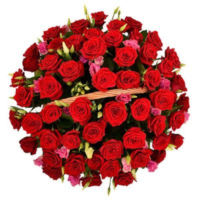 """Букет 51 красная роза """"Очарование"""""""