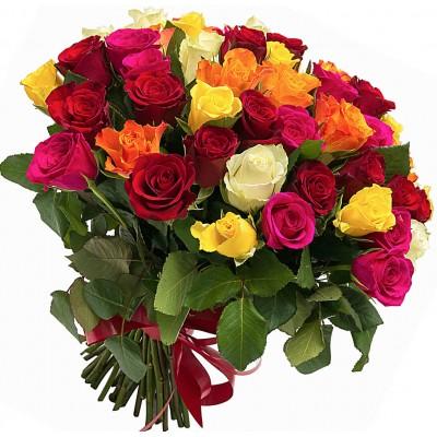 "Букет 51 роза микс ""Любимой"""