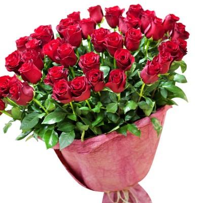 Букет 51 роза Престиж, 80 см