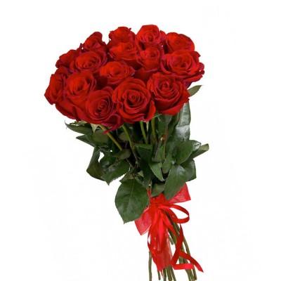 """Букет из 15 красных роз 80см, """"Таинственный танец"""""""