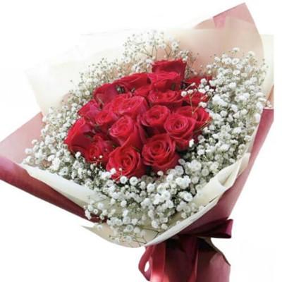 """Букет из 19 красных роз """"Праздничный"""""""