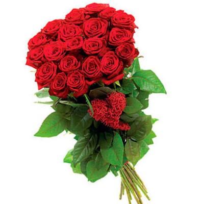 Букет з 19 троянд, 70 см