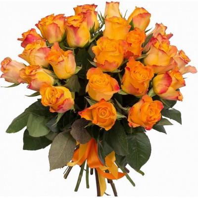 """Букет из 25 оранжевых роз """"Апельсинчик"""""""